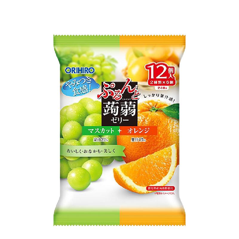 곤약 젤리 청포도+오렌지 12개입