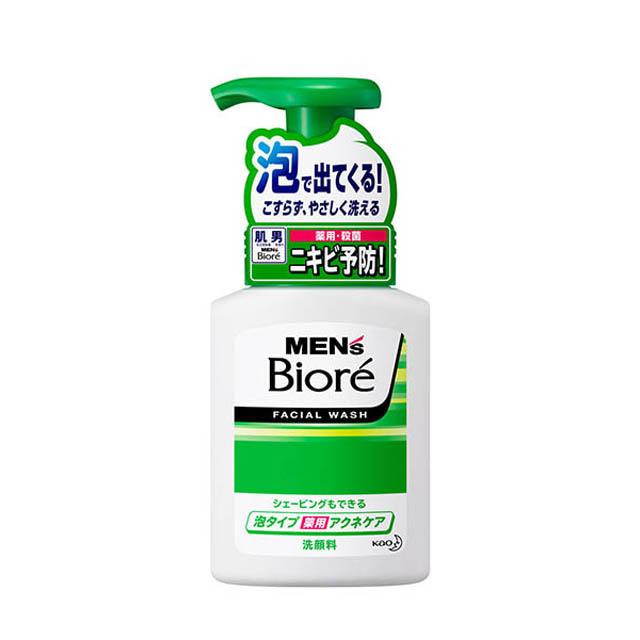[카오]비오레 맨즈 거품 클렌징 폼 아크네케어 150ml(여드름에 효과)