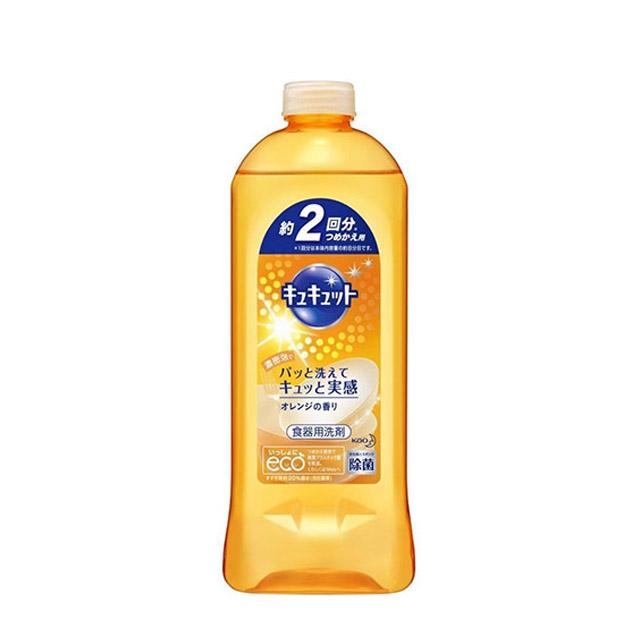 카오 큐큣토 주방세제 오렌지 리필 385ml
