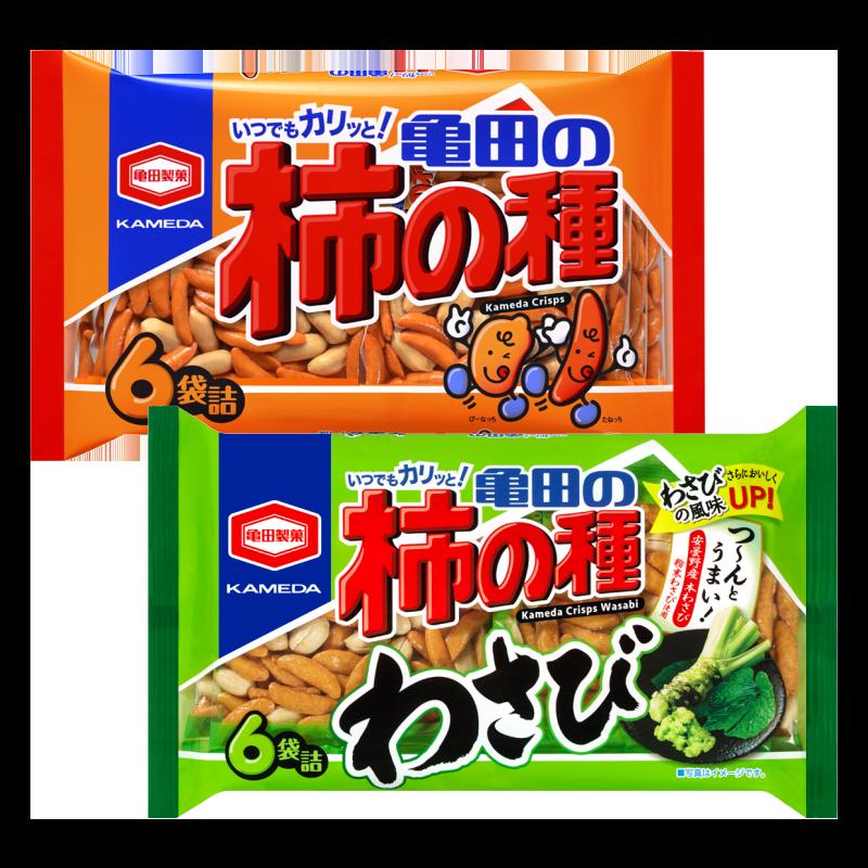 카메다 카키노타네 6봉지 (오리지널/와사비)