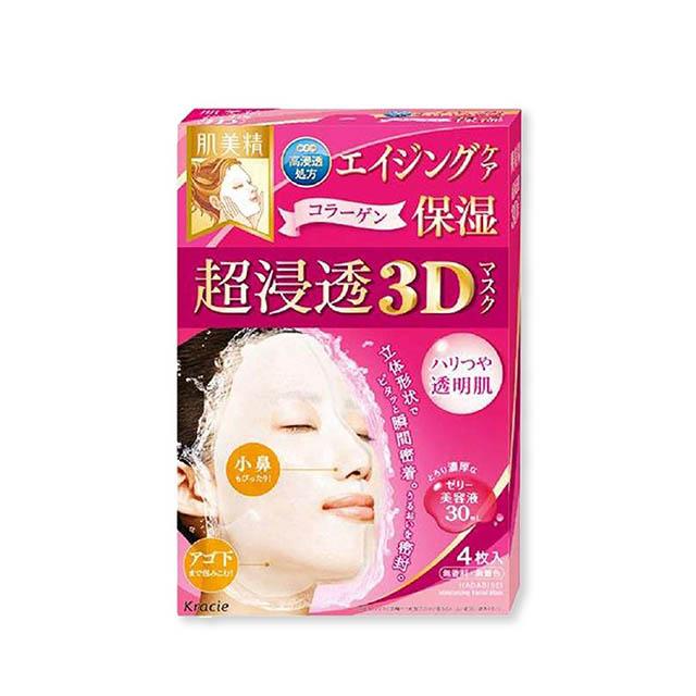 하다비세이 초 침투 3D 마스크 에이징 케어 콜라겐 4매입