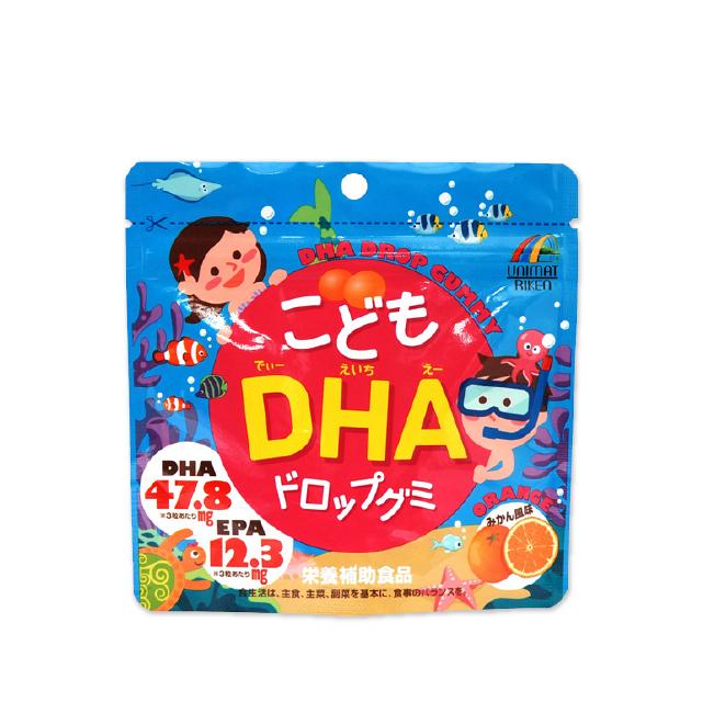 유니마트리켄 어린이 DHA 드롭구미(감귤맛) 90정